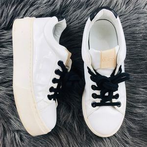 Kenzo✨Chunky platform white sneakers